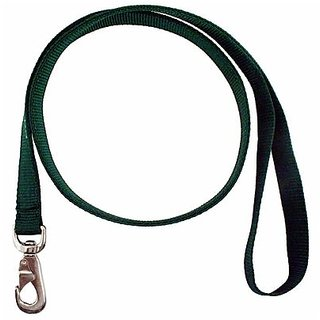 Dogit Nylon Double Ply Dog Leash with Silver Plate Bolt Snap, X-Large, 48-Inch, Black