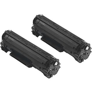 ink4work 2 Pack Compatible Canon 125 / 3484B001AA Toner Cartridge Fits Canon LBP6000 Imageclass MF3010