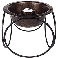 Platinum Pets Slow Eating Olympic Single Raised Feeder, Copper Vein, Large
