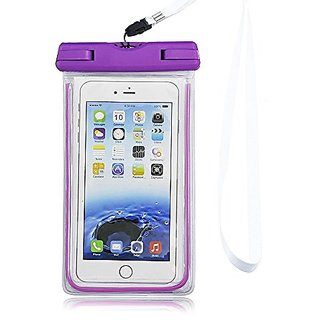 AcTopp Waterproof Case, Universal CellPhone Dry Bag Glowing in The Dark with Lanyard for Size Under 5.9 inch iPhone 6 Pl
