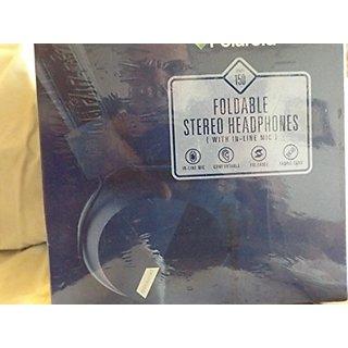Polaroid Bi-Fold Stereo Headphones with in Line Microphone