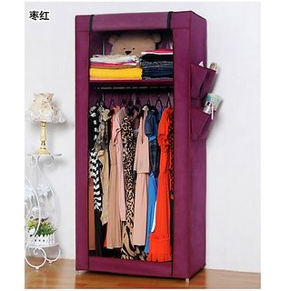 EI Stylish&Foldable Canvas Cupboard, Cabinet, Almirah, Wardrobe,Purple available at ShopClues for Rs.3599