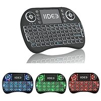 IIDEE I8 Blacklight(blue Navy Red) Colourful 2.4GHz Wireless Mini Keyboard With Touchpad Mouse For Raspberry Pi 3 / XBMC