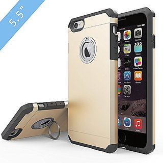 iPhone 6s Plus Case, JEMACHE Silicone Shock Absorber Corner Heavy Duty Solid Armor Gold Case for iPhone 6+/6s+ (5.5 inch