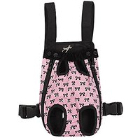 FakeFace Pet Cat Dog Travel Front Carrier Bag Backpack Comfortable Pet Legs Out For Pet Up To 10lb