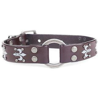 Lennox Dog Collar Company Fleur de Lis Dog Collar, 16-Inch, Espresso