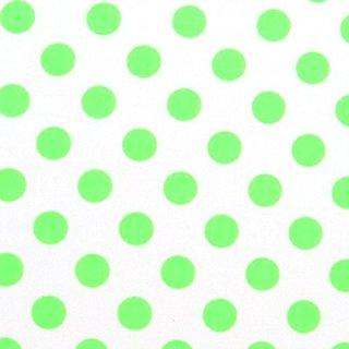 SheetWorld PC5B-W1010 PC5B-W1010 Fitted Portable / Mini Crib Sheet - Neon Green Polka Dots - Made In USA