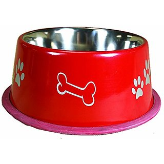 OmniPet Jumbo Non Tip Dog Bowl, 16 oz., Red
