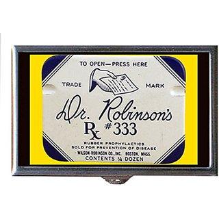 Vintage 1920s Condom Graphic Dr. Robinsons Decorative Pill Box