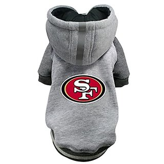 Hip Doggie NFL 49ers Pet Hoodie, 3X-Large