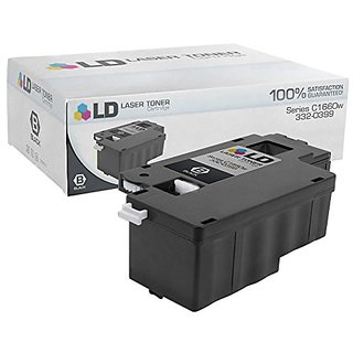 LD Compatible Toner to Replace Dell 332-0399 (4G9HP) Black Toner Cartridge for Your Dell C1660w Color Printer