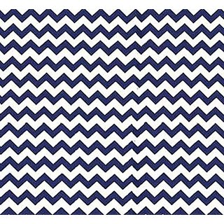 SheetWorld Fitted Pack N Play (Graco) Sheet - Royal Blue Chevron Zigzag - Made In USA