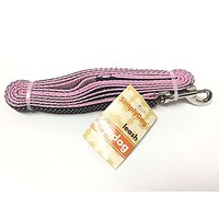 Small Dog Leash Pink With Black And White Polka Dot Ribbon 4ft~ Toy Dog