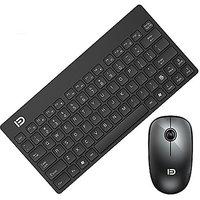 GranVela 1500 2.4G Slim Portable Wireless Keyboard And Mouse Set For Laptop Desktop Tablet - Black