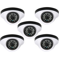 PuffinHD Security Camera CCTV Night Vision Dome 5 PCS Camera 1000TVL With 1 Year Warranty(5 PCS CAMERA)