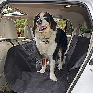 Waterproof Hammock Pet Seat Cover with Seat Anchors for Cars Trucks and Suvs Nonslip Extra Side Flaps Easy-Fit Seat Cove