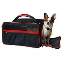 "Bark N Bag Organic Denim Pet Dog Cat Airline Approved Soft Sided Crate Bag Tote Carrier Crate Large Carrier Size 20"" L X"