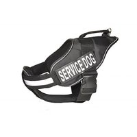 Dogline Alpha Nylon Service Vest Harness With Removable Chestplate And Service Dog Velcro Patches, X-Large, Chest Size 3