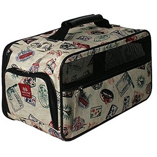 Bark-n-Bag Classic Postage Stamp Collection Pet Carrier, Small
