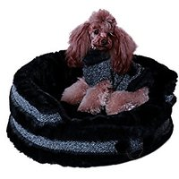 Charlottes Dress Pet Dog Bed, Small, Grey
