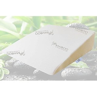 Bamboo By Relax Home Life - Foam Wedge Bamboo Pillow With 1.5