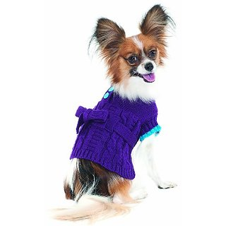 Fashion Pet Lookin Good Sorority Girl Sweater Dress for Dogs, Medium