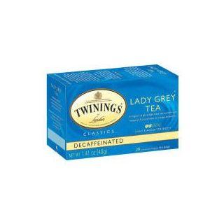 Twinings Classics Lady Grey Tea Naturally Decaffeinated 20 Bag(S)