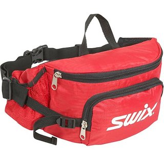 Swix Ski Gear Two Compartment Fanny Pack, Small, Red