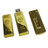 Microware 16GB Golden Biscuit Shape Designer Fancy  Pendrive