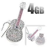 Usb 2.0 8gb Metal Guitar Shape Shape Pen Drive