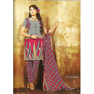 Crape Synthetic Designer Printed Dress Material 4016