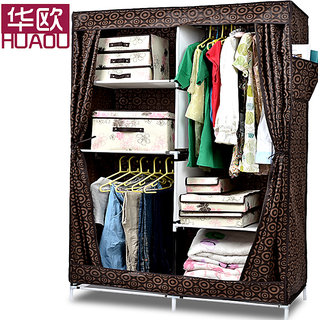 EI Stylish&Foldable Canvas Cupboard, Cabinet, Almirah, Wardrobe,Brown available at ShopClues for Rs.4399