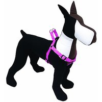 Dogit Adjustable Harness, 3/4-Inch By Neck: 16 By 23-Inch By Chest: 20 By 28-Inch, Medium, Bones, Pink
