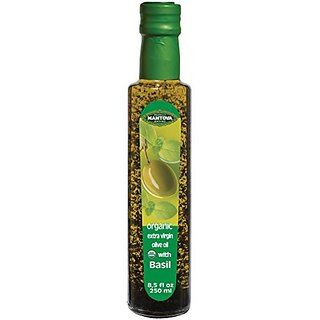 Mantova Basil Organic Flavored Extra Virgin Olive Oil