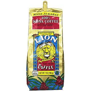 LION Coffee 100% 24-Karat Medium Roast Kona Coffee, Ground, 0.44 Pound