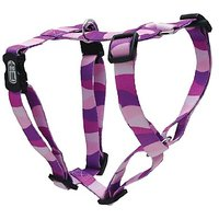 Dogit Adjustable Harness, 3/4-Inch By Neck: 16 By 23-Inch By Chest: 20 By 28-Inch, Medium, Wild Stripes, Purple
