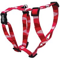 Dogit Adjustable Harness, 3/4-Inch By Neck: 16 By 23-Inch By Chest: 20 By 28-Inch, Medium, Wild Stripes, Red