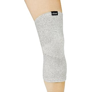 Bamboo Knee Support by Vive (Pair) - Best Elastic Compression Sleeve for Arthritis, Tendonitis and Running - Antimicroba