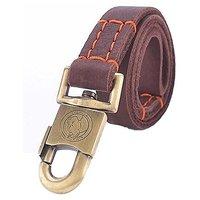 IntimaTe WM Heart 2.6ft Luxury Handmage Leather Dog Leash Pet Durable Leash Training Walking Collar For Large Dog(Large)