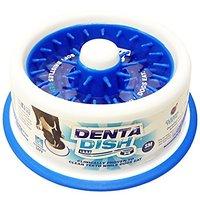 DentaDish - Teeth Cleaning, Slow Feeding Dog Bowl,Small