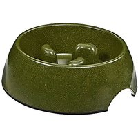 Aspen Pet 23358 Eco Slow Feeding Bowl For Pets, Large, Forest Green