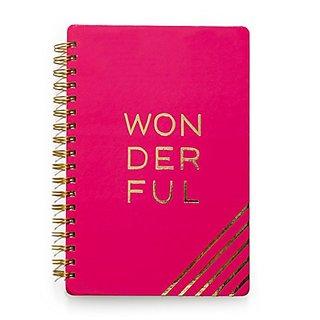 American Crafts Designer Desktop Journal, Wonderful, 7 x 10