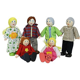 Hape - Happy Family Doll House - Doll Family - Caucasian