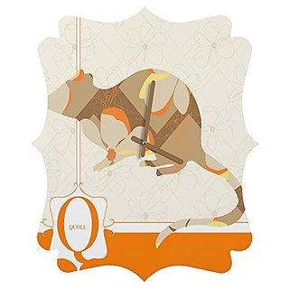 DENY Designs Jennifer Hill Mister Quoll Quatrefoil Clock, Medium