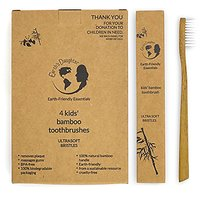 Earths Daughter Biodegradable, Eco-Friendly, Natural Bamboo Kids Toothbrushes With BPA-Free Ultrasoft Nylon Bristles - 4