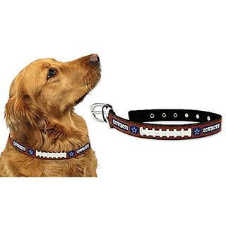 Dallas Cowboys Official NFL Large Pet Dog Collar by Gamewear