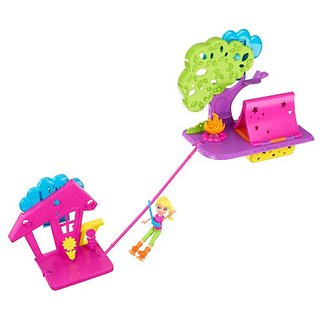 Polly Pocket Wall Party Camping Playset