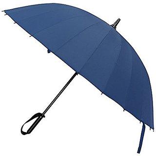 Miego Umbrella, 39 Inch Diameter Windproof Sunrain Golf Umbrella Rain & Wind Resistant, Long Umbrella with 24 Ribs (Blue
