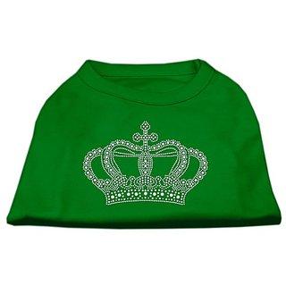 Mirage Pet Products Rhinestone Crown Shirt, Large, Emerald Green