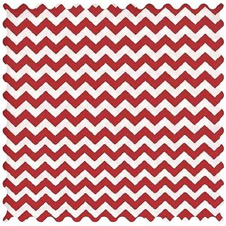SheetWorld Red Chevron Zigzag Fabric - By The Yard